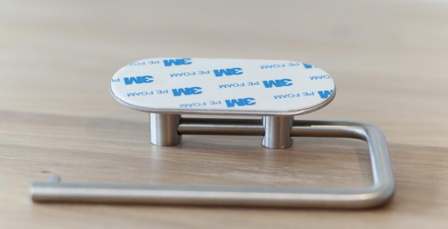 WC popieriaus laikiklis BASE 100   60602  mat. chromas , priklijuojamas