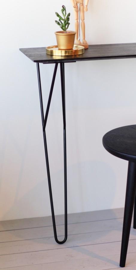 MINI 100 JUODAS konsolinis staliukas, ąžuolinis