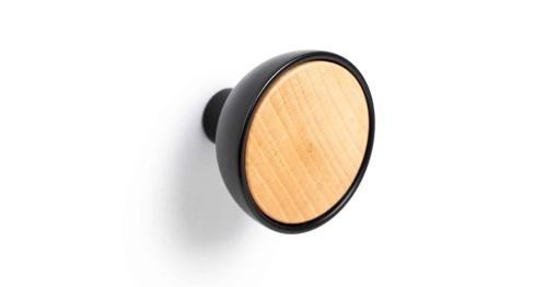 Knob BOL 45 black/light wood