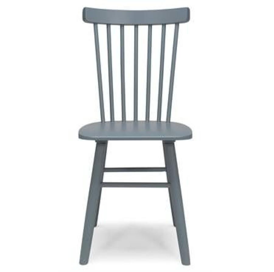SCAND  pilkai mėlyna beržinė kėdė